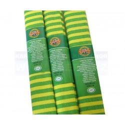 Papír krepový Koh-i-noor pruhovaný žluto-zelený 70