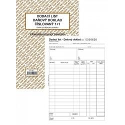 Tiskopis Dodací list - daňový doklad A5 číslovaný BAL NCR PT142