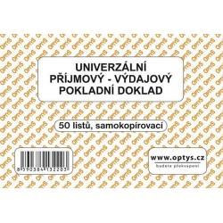 Tiskopis UPVD Univerzální příjmový-výdajový pokladní doklad A6, samopropis, OPT 1322