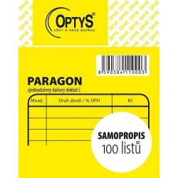 Tiskopis Paragon obchodní, samopropisovací nečíslovaný, OPT 1100