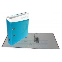 Pořadač HIT A4 7cm pákový lamino rado Zima modrý