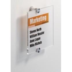 Informační tabule na dveře CRYSTAL SIGN Durable 4822 148x148mm