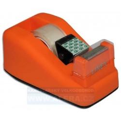 Zásobník odvíječ pásky LINEX + lepicí páska 19x33 oranžová
