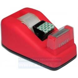 Zásobník odvíječ pásky LINEX + lepicí páska 19x33 růžová
