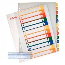 Rozřaďovač A4+ 1-12 listů plastový barevný Esselte 100214