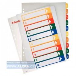 Zboží na objednávku - Rozřaďovač A4+ 1-10 listů plastový barevný Esselte 100213