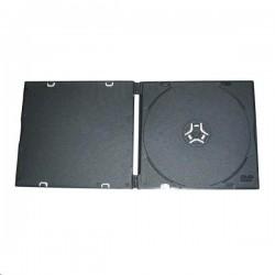 Box na CD/1ks slim-tenký černý-měkký plast