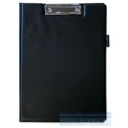 Deska psací podložka dvojitá A4 horní klip držák na tužky černá