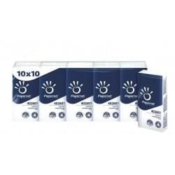 .Kapesníky papírové-balení 10x10ks 4-vrstvé PAPERNET premium