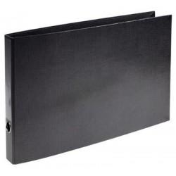 Zboží na objednávku - Pořadač 4-kroužky A3 na šířku 5cm hřbet D35 černá