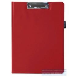 VÝPRODEJ - Deska psací podložka dvojitá A4 horní klip držák na tužky červená