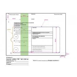 Doručenka C5 1000ks soudní zelený pruh s poučením DORUČENKA do vlastních rukou s vyloučením vložení do schránky
