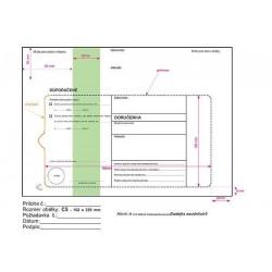 Doručenka C5 1000ks soudní zelený pruh s poučením DOPORUČENĚ pro možnost náhradního doručení