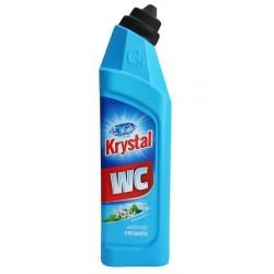 Krystal 750ml - čistič na WC anticalc modrý
