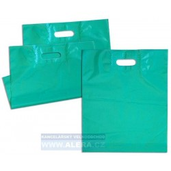 Taška PE průhmat 1ks 38x44cm 45mic zelená