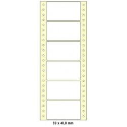 Etikety tabelační 89x48,8 jednořadé 150ks