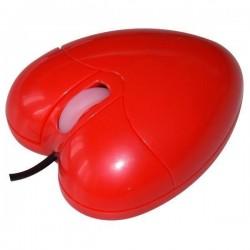 myš All New O-93 Heart optická USB 800dpi SRDCE červená