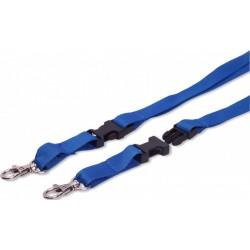 Šňůrka na krk TULIP plochá rozpojovací s karabinou modrá 1ks [ POUZE PO 50 ks ]