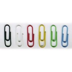 Spony kancelářské 26mm Durable 1253 potažené plastem barevný mix, 100ks