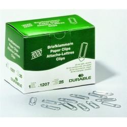 Spony kancelářské 26mm Durable 1207 zinkované, 1000ks