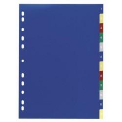 Rozřaďovač A4 1-12 listů plastový Durable 6750
