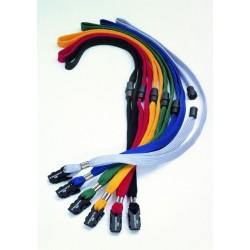 Zboží na objednávku - Šňůrka na krk 10 mm s bezpečnostním uzávěrem 10ks Durable 8119 tmavě modrá