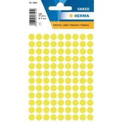 Etikety Herma neon žluté kolečko 8mm 540ks