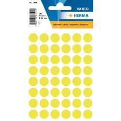 Etikety Herma neon žluté kolečko 12mm 240ks