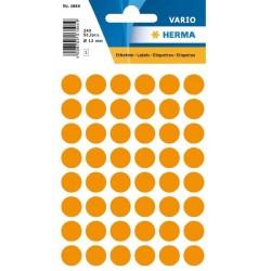 Etikety Herma neon oranžové kolečko 12mm 240ks