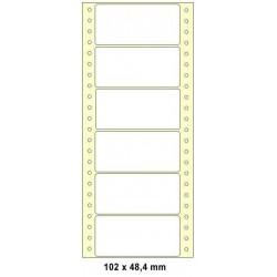 Etikety tabelační 102x48,4 jednořadé 6000ks