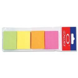 Lepicí bloček CONCORDE 38x51mm 4x50 lístků neon 4 barvy