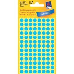 Etikety Avery Zweckform 3011 modré kolečko 8mm 416ks