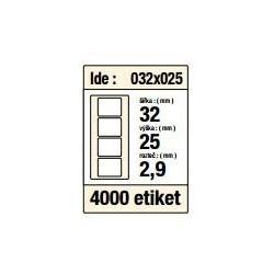 Etikety v kotoučku 32x25mm 4000ks střed 40mm pro termotiskárny