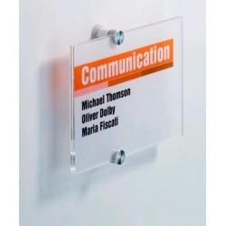 Informační tabule na dveře CRYSTAL SIGN Durable 4823 210x148mm