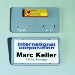 Zboží na objednávku - Visačka ClipCard s magnetem Durable 8129 40x75mm 25ks šedá