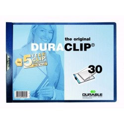 VÝPRODEJ - Rychlovazač PVC A4 DURACLIP 30 Durable 2246 na šířku 25ks tmavě modrá