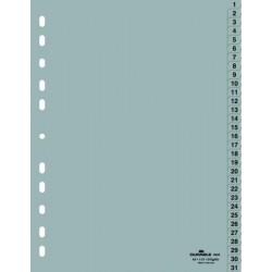 Rozřaďovač A4 1-31 plastový šedý DURABLE 6523