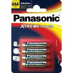 Baterie mikrotužková AAA LR03PPG/4ks alkalická Panasonic Xtreme Power