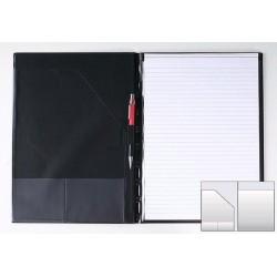 Desky s poznámkovým blokem A4 PVC černé