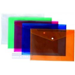 .Obálka s drukem A5 průhledná oranžová, 5ks