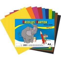 Kreslící karton barevný A4/10listů 180gr. 10 barev