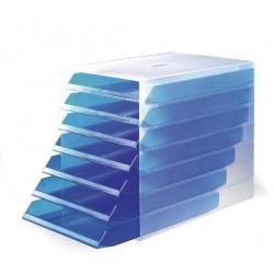 Úložný box IDEALBOX 7 Durable 1712000540 transparentní modrá