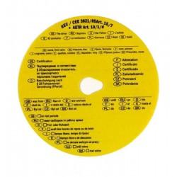 Zboží na objednávku - Kotouček tachografový žlutý dovolenkový/100ks