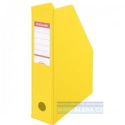 VÝPRODEJ - Stojan na časopisy Esselte Economy Vivida 7cm hřbet 1ks žlutá