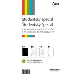Zboží na objednávku - Blok A4 kroužkový 5x20 listů Studentský speciál, Optys 1550