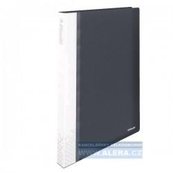 Katalogová kniha A4 Esselte Vivida 40kapes TUHÉ desky černá 623988