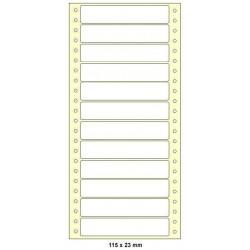 Etikety tabelační 115x23 jednořadé 6000ks