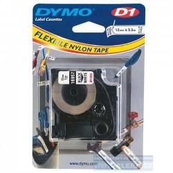 Dymo páska D1 el. 12x3,5m bílá flexibilní nylon S0718040