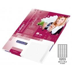 Zboží na objednávku - Fólie R0504 A4 100listů bílá lesklá samolepicí laser/copy 48,5x25,4