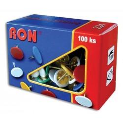 Připínáčky 224B RON 100ks barevné